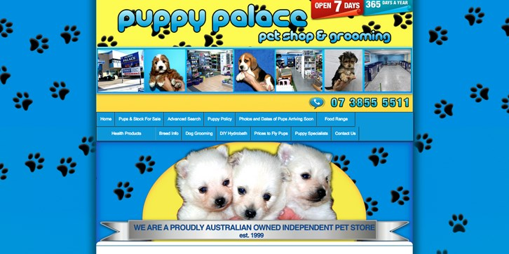 New Website Launched for Puppy Palace Pet Shop!