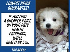 Price Beat on Pet Health Products