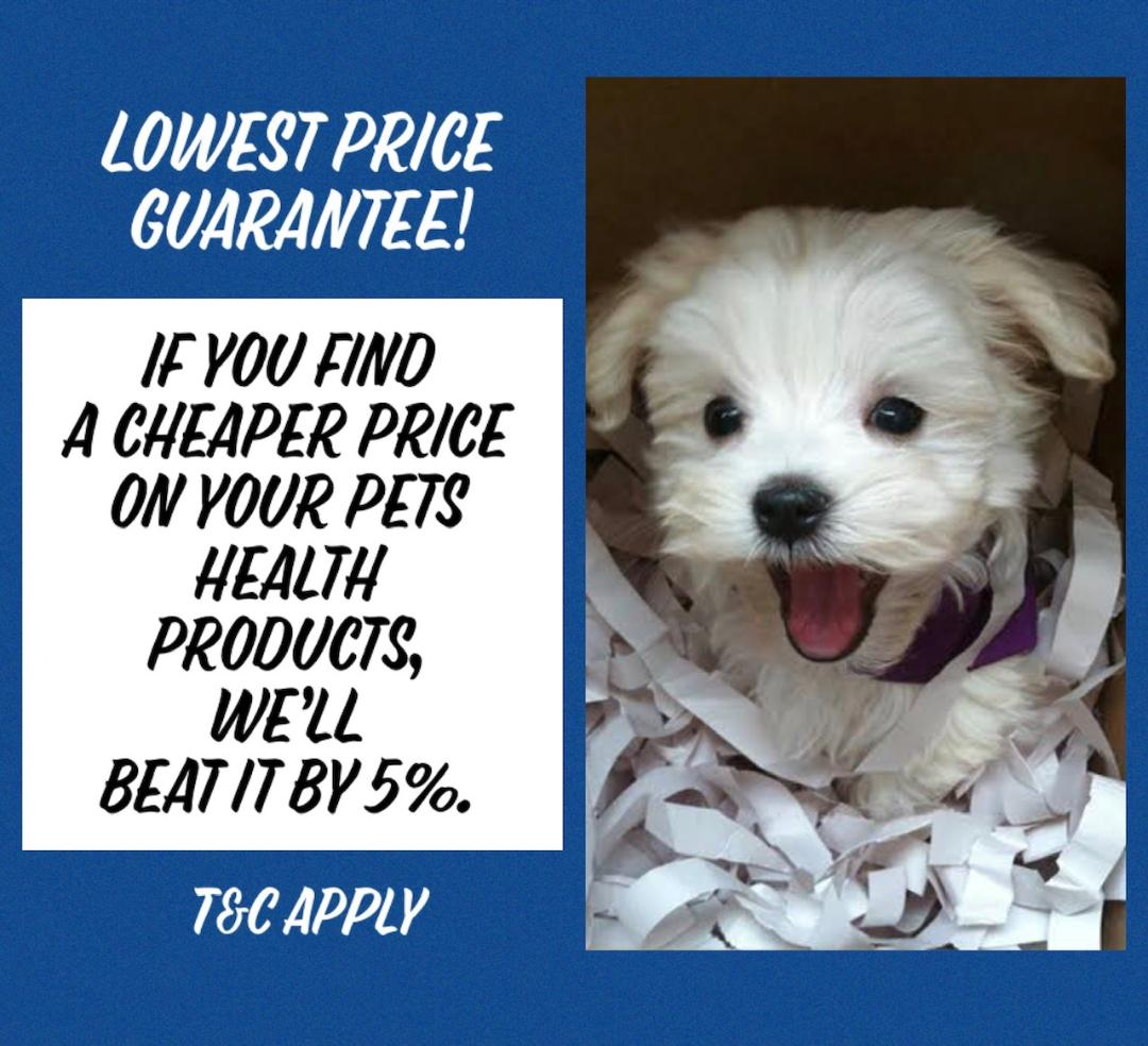 5 % Price Beat on Our Everyday Discounted Pet Health Products